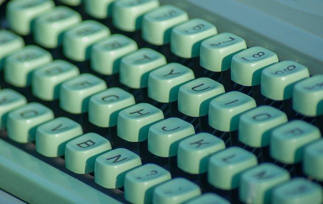Typewriter, Letters, Secretary, Flea Market