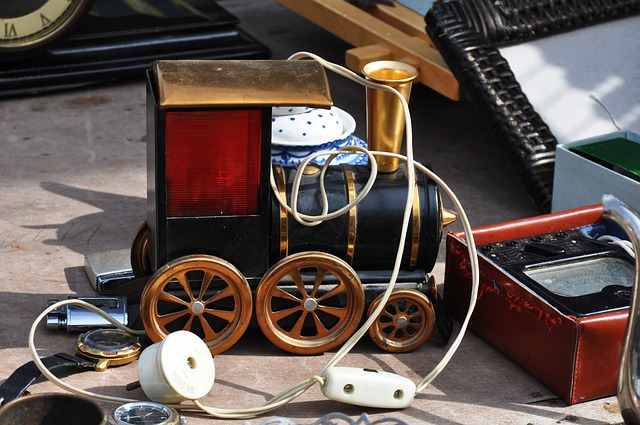 Toy, Steam Locomotive, Train, Vintage, Flea, Market