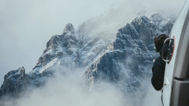 Helicopter, Mountains, Flight, Photography, View, Fog