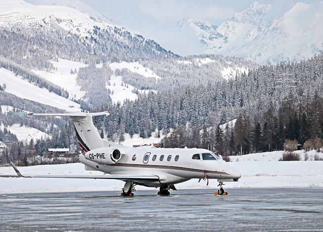 Aircraft, Travel, Holiday, Flight, St Moritz, Frost