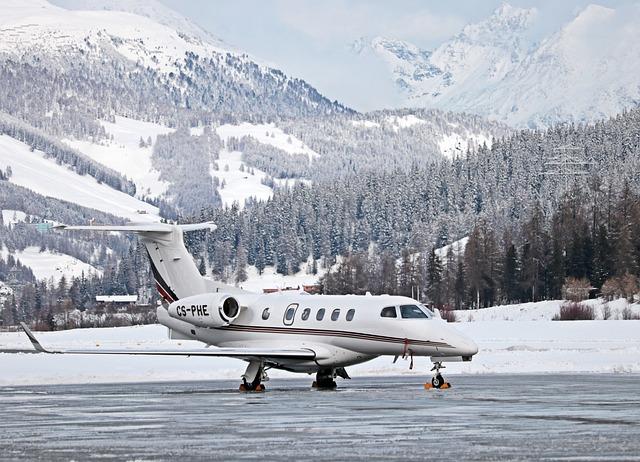 Aircraft, Travel, Holiday, Flight, St Moritz, Frost