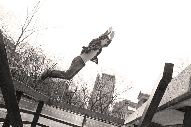 Parkour, Jump, Toronto, Flight