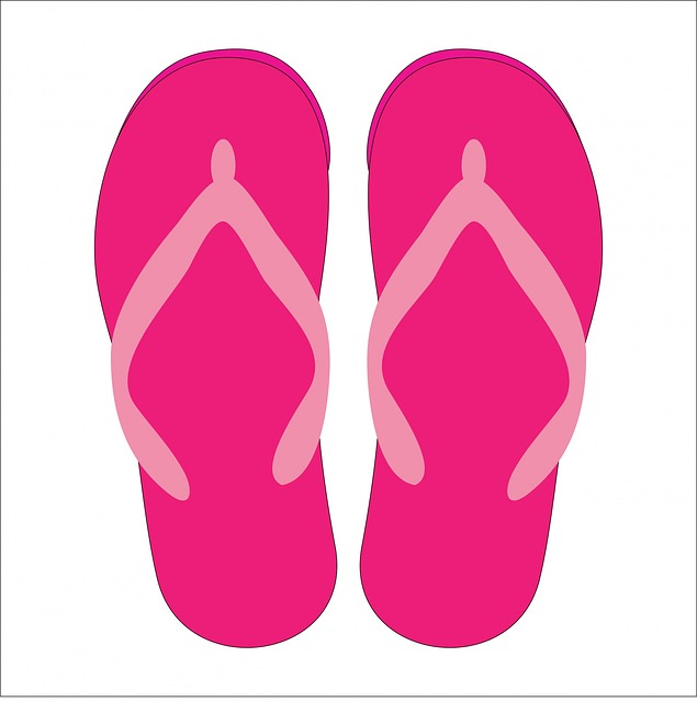 Flip Flops, Footwear, Sandals, Shoes, Beach Shoes