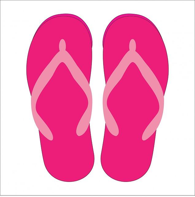Flip Flops, Footwear, Sandals, Shoes, Beach Shoes