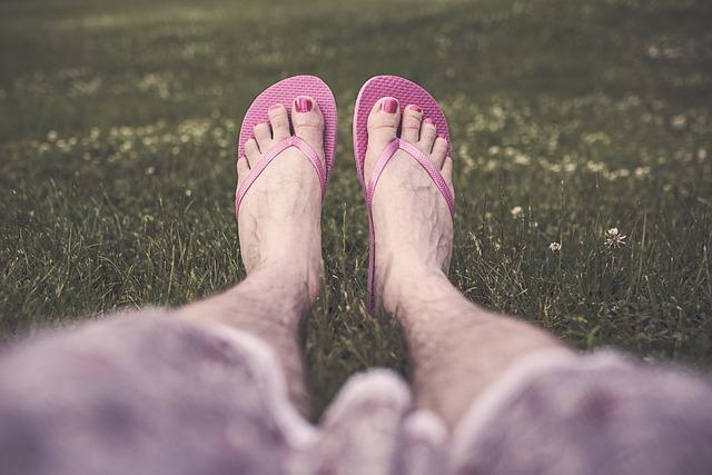 Queer, Feet, Gay, Legs, Flip-flops, Man, Male, Pedicure