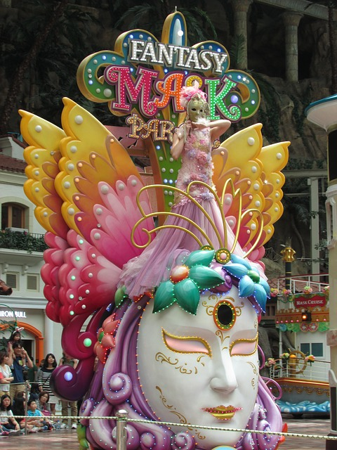 Mask, Venetian, Float, Lotte World