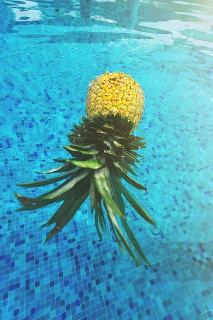 Float, Floating, Fruit, Mexico, Pineapple, Pool, Resort