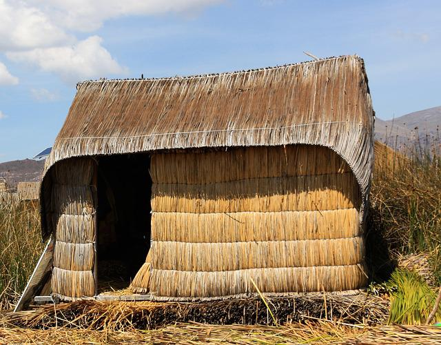 Reeds House, Uros, Floating Islands, Titcacasee