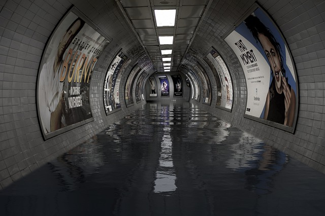 Underground, London, Flood, Subway, Transportation