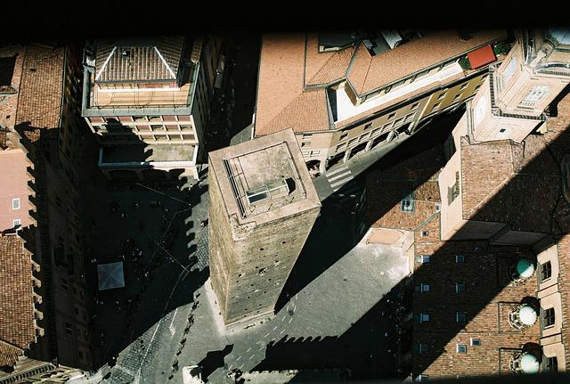 Bologna, Torre, Asinelli, Shadow, Floor, Piazza