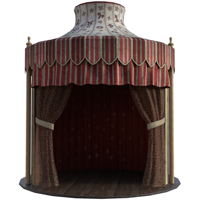 Gypsy Tent, Fabric, Curtains, Wooden, Floor, Tent