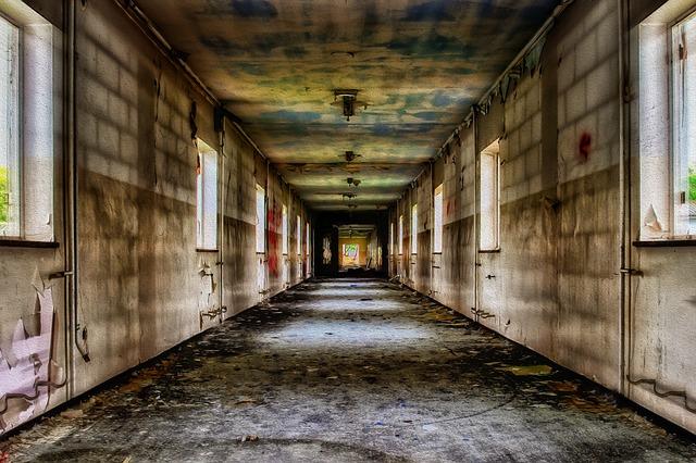 Floor, Gang, Inner Hallway, Lost Places, Empty, Long