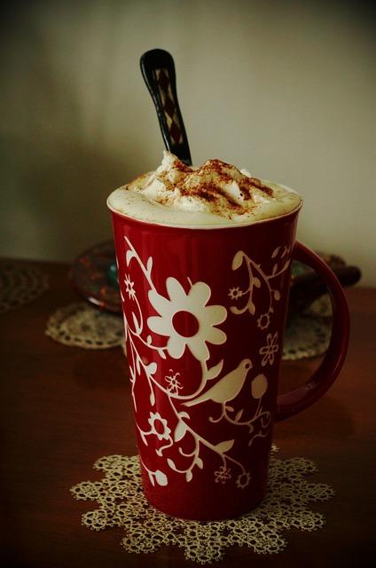 Coffee, Floral, Tatting, Doily