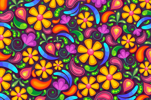 Floral, Paisley, Background, Flower, Colorful, Stylized
