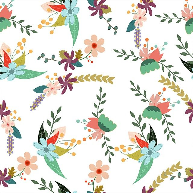 Floral, Backdrop, Pattern, Flower, Design, Nature