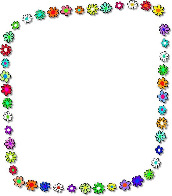 Frame, Flowers, Floral, Botanical, Plants, Nature