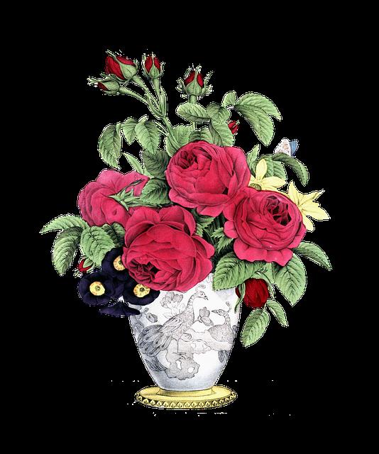 Rose, Vintage, Decoration, Leaf, Floral, Flower, Gift