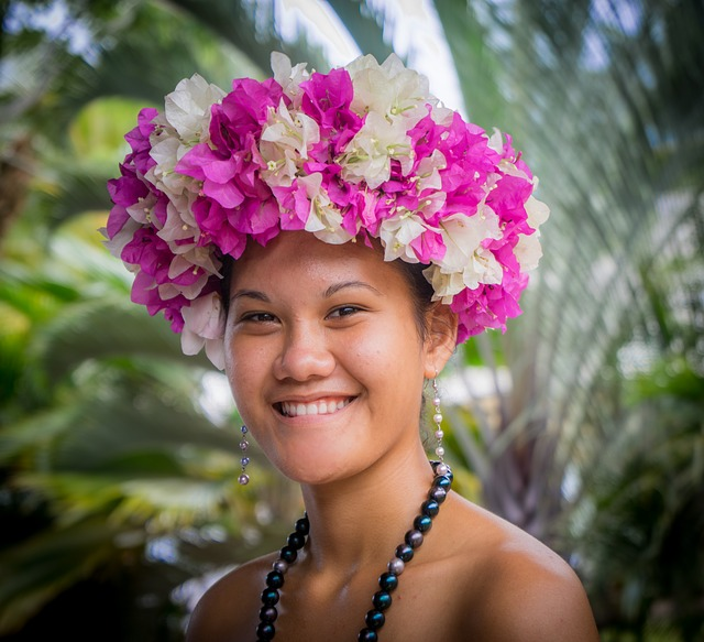 Floral Head Dress, French Polynesia, Nuva Hiva