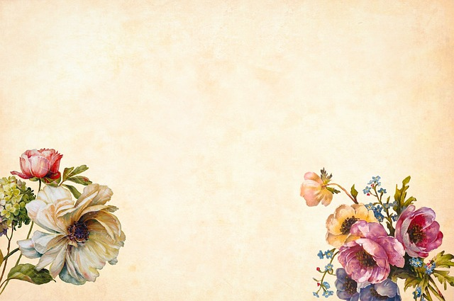 Flower, Background, Floral, Vintage, Roses, Bouquet