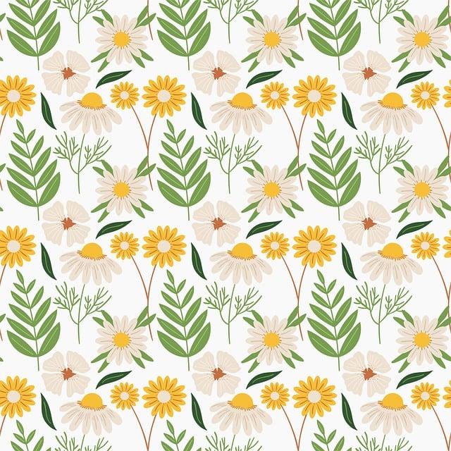 Flower, White, Pattern, Floral, Seamless, Decor