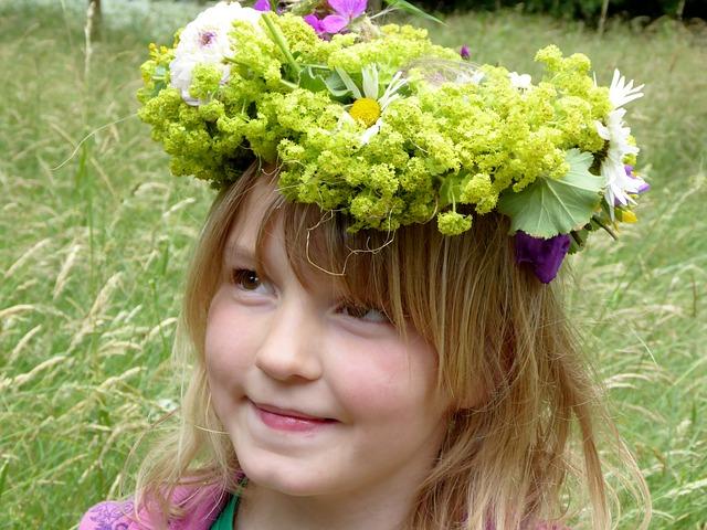 Girl, Queen, Floral Wreath, Summer, Floral Arrangement