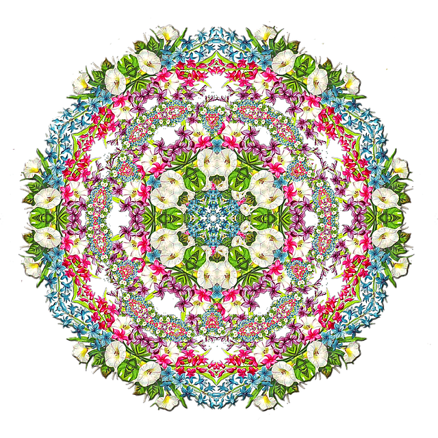Floral Wreath, Tile, Background Image, Pattern