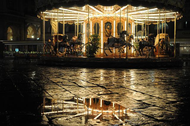 Florence, Joust, Carousel, Evening