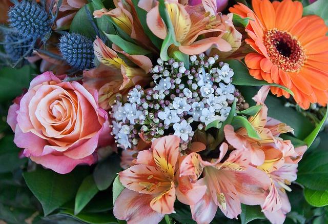 Flowers, Bouquet, Pink, Florist