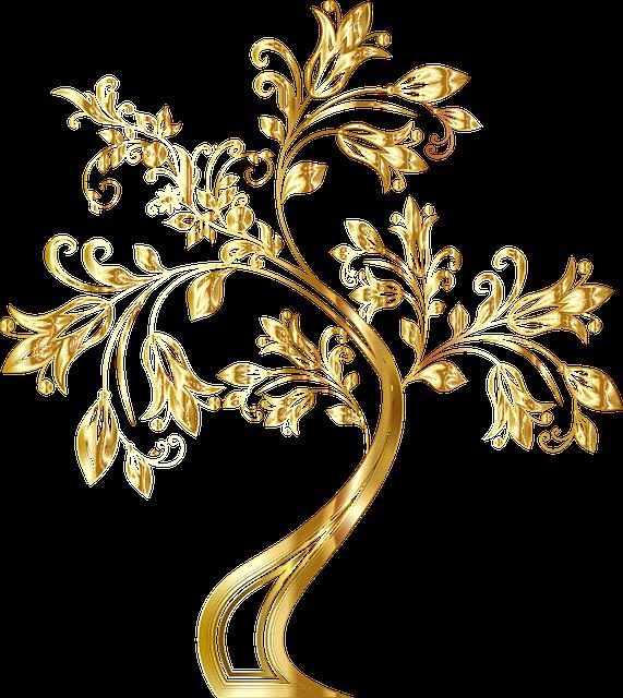 Tree, Decorative, Floral, Flourish, Flowers, Ornamental