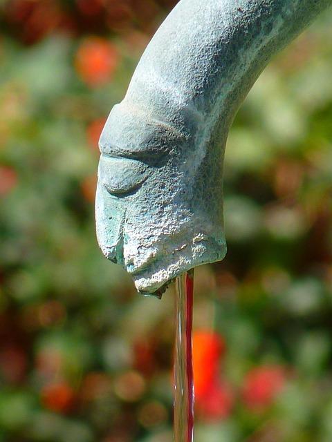 Water Feature, Fountain, Figure, Gargoyle, Water, Flow