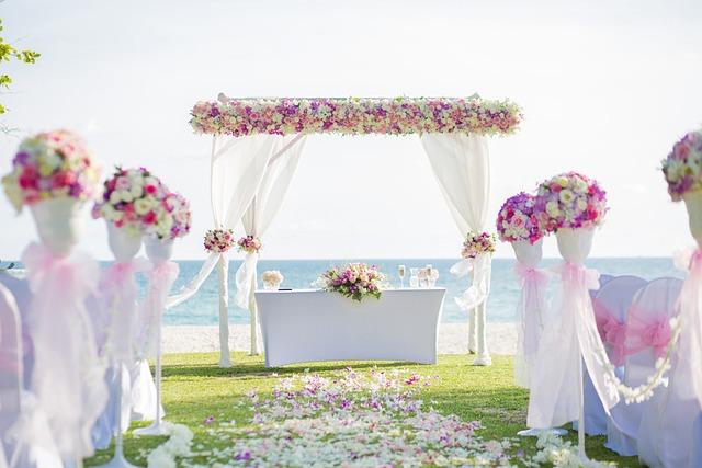 Flower Archway, Beach Wedding, Wedding