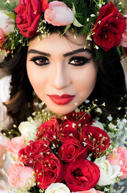Rose, Flower, Bouquet, Wedding, Bride And Groom