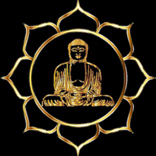 Buddha, Buddhism, Flower, Line Art, Lotus, Meditation