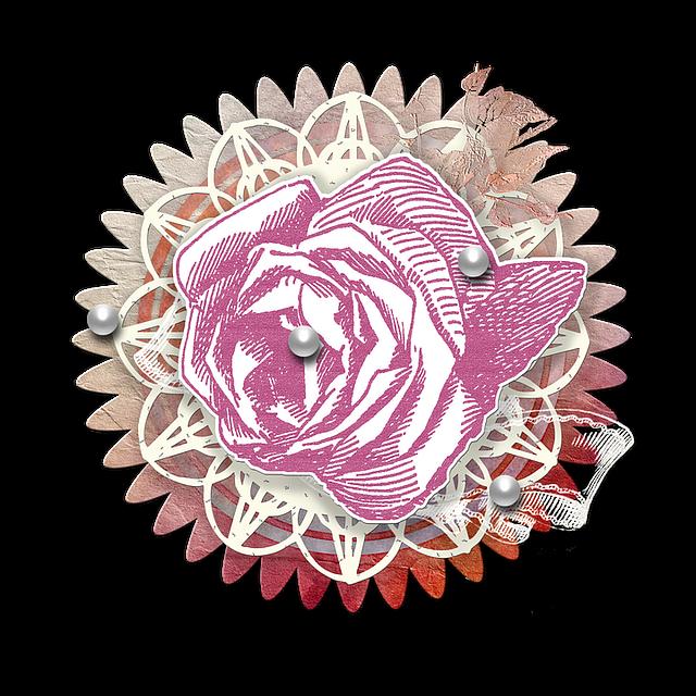 Free photo Flower Cluster Rose Scrapbook Scrapbooking ...
