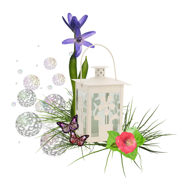 Scrapbook, Cluster, Flowers, Flower, Rose, Lantern
