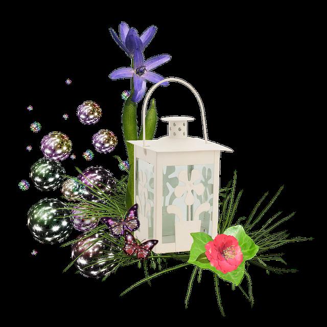 Scrapbook, Cluster, Flowers, Flower, Rose, Lantern