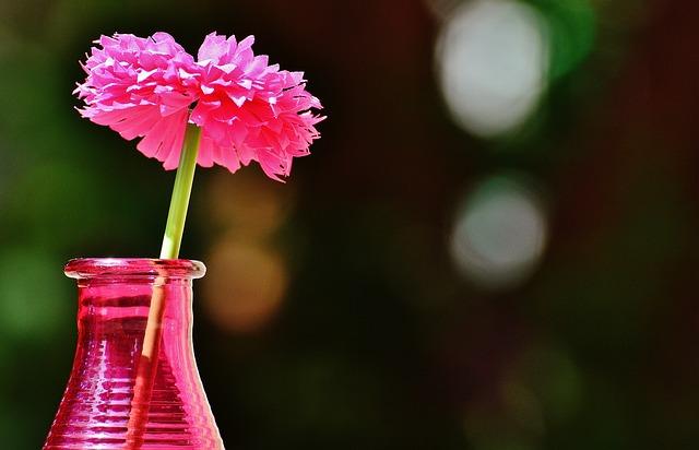 Vase, Glass, Colorful, Flower, Decoration