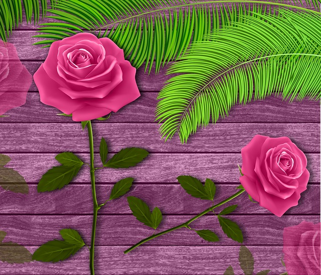 Flowers, Wood, Background, Roses, Flower, Texture