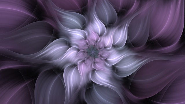 Fractal, Flower, Lavender, Art, Abstract, Pattern