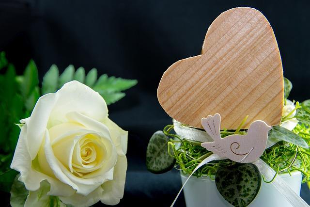 Flower, Rose, Petal, Heart, White, Romance