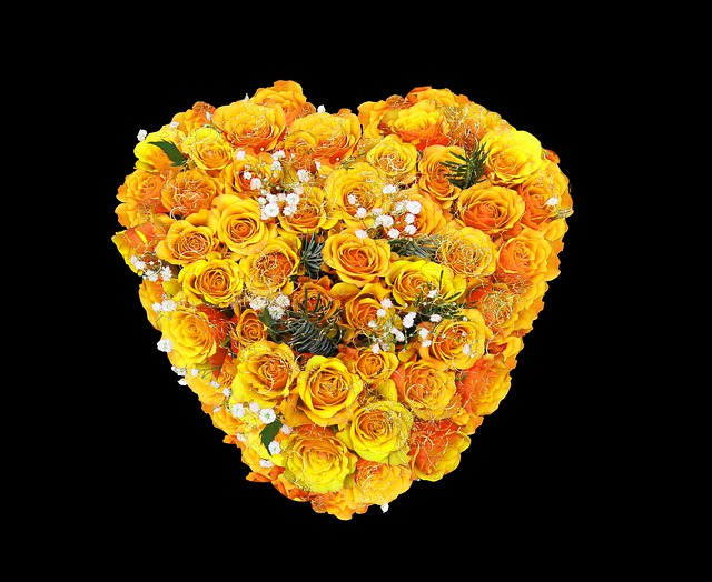 Flower, Roses, Flowers, Heart, Yellow, Bouquet, Love