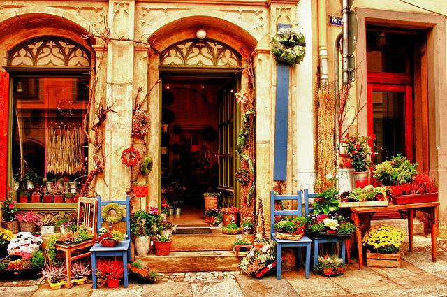 Flower Shop, Meissen Impression, Hdr
