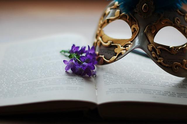 Book, Flower, Flowers, Mask, Mask Venetian, White