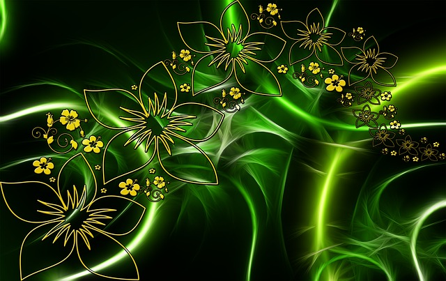 Flora, Entwine, Fractals, Flowers, Abstract, Green