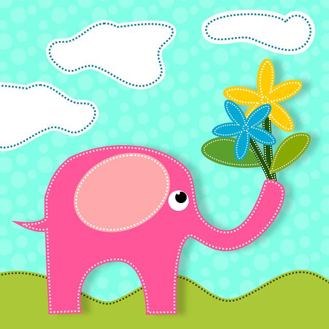 Elephants, Animals, Flowers, Nature, Love, Feeling