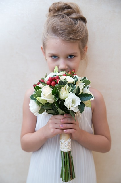 Girl, Flowers, Bouquet, Baby, Small