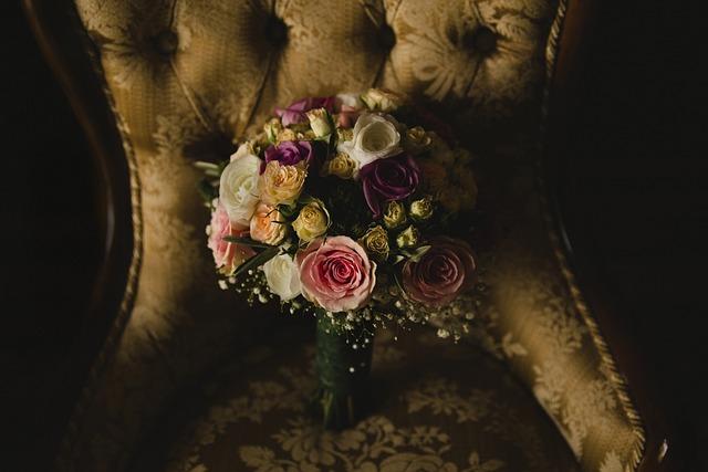 Bridal Bouquet, Wedding, Flowers, Bouquet Of Flowers