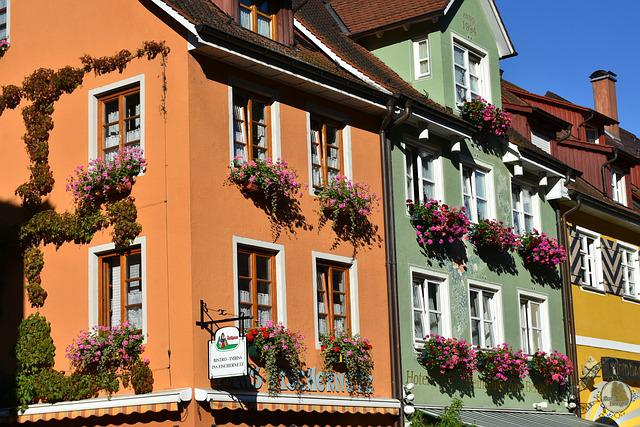 Meersburg, Lake Constance, City, Building, Flowers