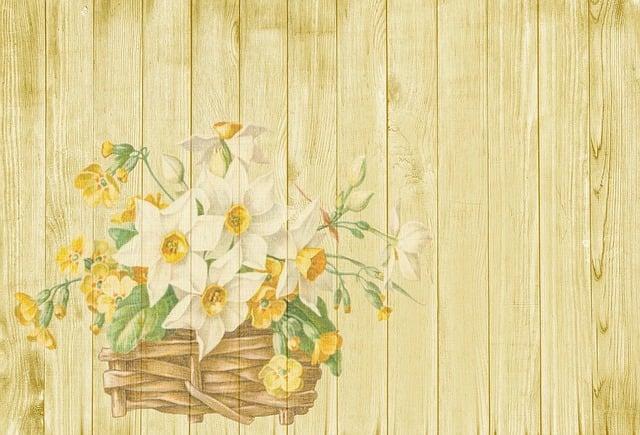 Background, Easter, Spring, Flowers, Basket, Nostalgic