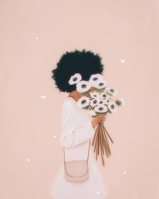 Woman, Flowers, Fashion, Purse